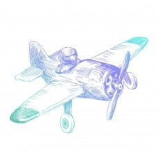 Couture Creations Mens Mini Stamp - Airplane